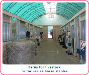 Arch-Span buildings for horses, cattle or any livestock