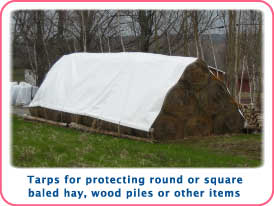 Hay and crop covers and tarps